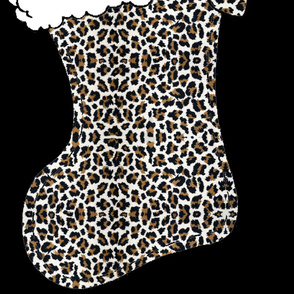 5 FT LEOPARD Christmas Stocking by Paris Bebe