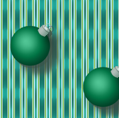 Green Ornaments on Bosque Stripe 1
