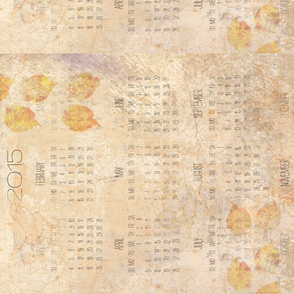 2015 calendar chickens leaves smudged