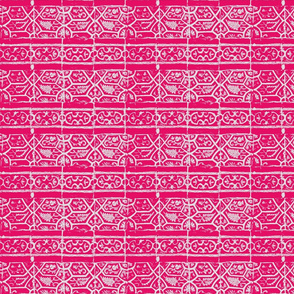 Arabic tiles in pink