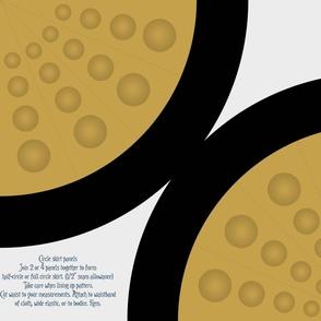 Robot balls - Circle skirt panel