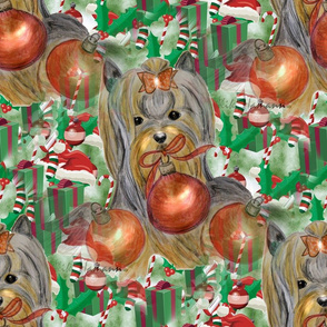 Tis Christmas Fabric Larger Print