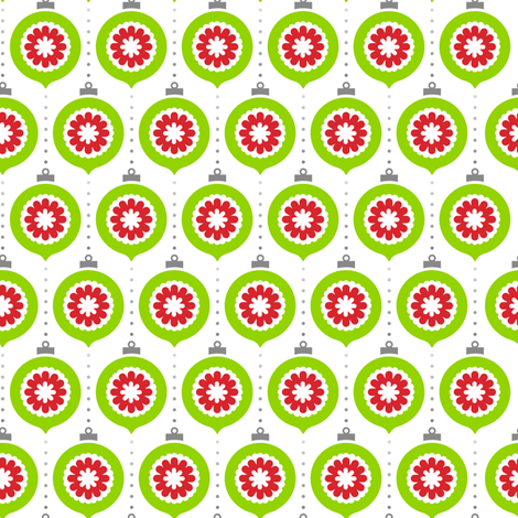 RetrOrnaments Green with REdCenter