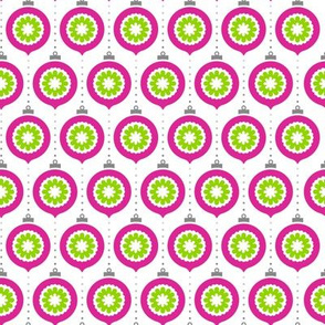 RetrOrnaments Pink with GreenCenter