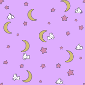 Usagi's Bedspread Inspired Fabric from Sailor Moon