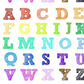 rainbow gradient scribble letterquilt