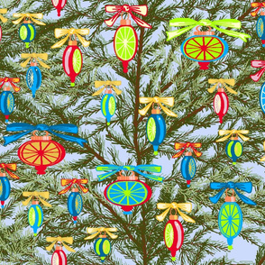 Christmas_tree_branches_three_greens_ornaments_C