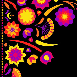 Happy flower border (black)