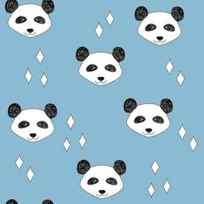Panda white blue