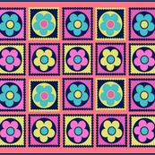 Flower Power Pop Tea Towel