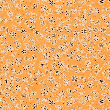 XII - Flowers on Orange