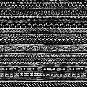 Aztek Pencil Doodle in Black