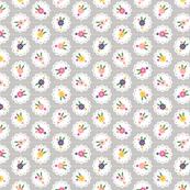 Wedgewood* (Silkscreen) || flowers flower floral doily doilies vintage shabby chic garden lattice polka dots nature leaves garden