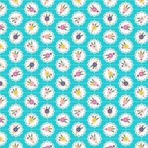 Wedgewood* (Ultraviolet) || flowers flower floral doily doilies vintage shabby chic garden lattice polka dots nature leaves garden