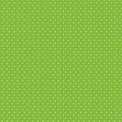 Vintage Small Ivory Polka Dots on Green