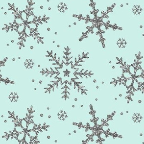 Snowflake Shimmer in Mint