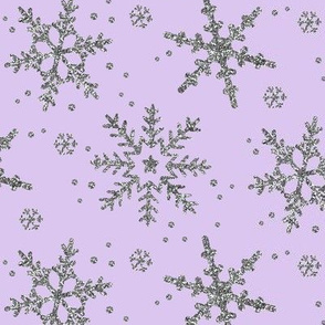 Snowflake Shimmer in Lilac