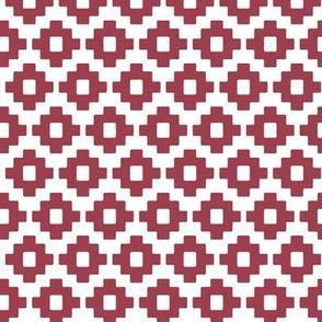 aztec in raspberry