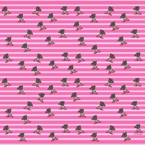 TINY Yorkie Girl Pink Stripes
