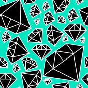 Black Diamonds on Teal