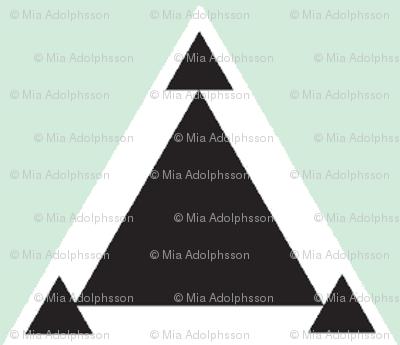 triangles mint wallpaper miamea spoonflower