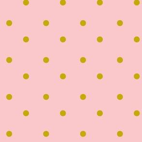 Gold Dots-Pink
