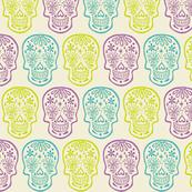 Skulls-PurpleTealLime