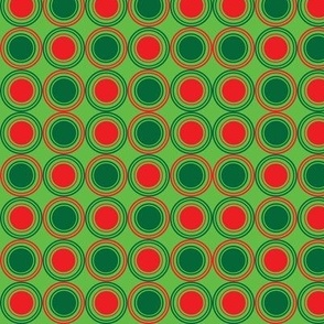 Season of Greetings Green and red