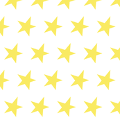 yellow star on white