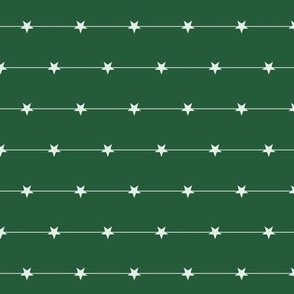 stars in a line on green