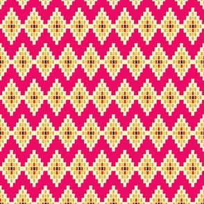 Geometric Chevron on Pink