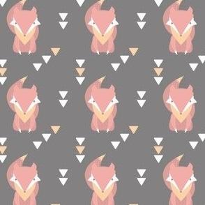 Pink Fox Geometric Tribal