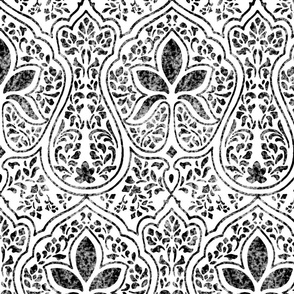 Rajkumari ~ Black and White ~ Batik