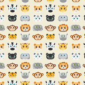Cute Jungle Animals Pattern