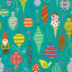 Ornaments on Turquoise
