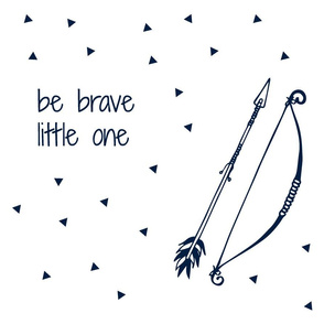 Be Brave Little One (Navy) // Pillow Layout