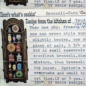 Vintage recipe, Broccoli Casserole