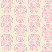 Sugar Skull - Cotton Candy Pink