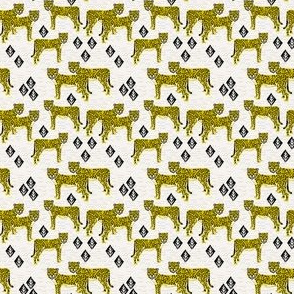 Safari Cheetah - Goldenrod (Tiny Version) by Andrea Lauren