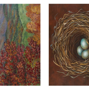 Nest and Landscape Pillows