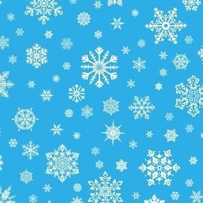 Snowflakes Lt Blue