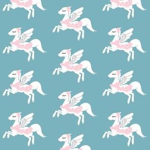 Flowery Pegasus Fabric