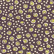 Bubbles - Warm Amethyst, Dark Grape, Bright Yellow