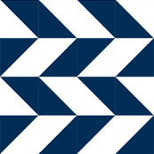 herringbone quilt in navy