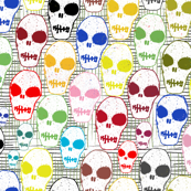 Small skulls in color
