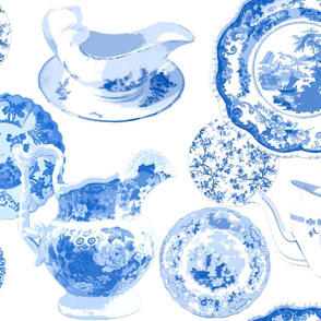 Mrs Chatsworth's China Cabinet in Delft Blue