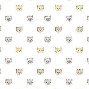 Kitten Polka Dots