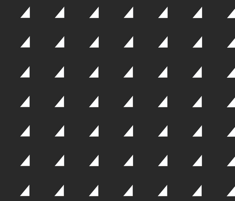 Tiny Triangles - white on black