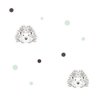 hedgehog dots mint