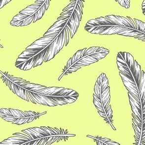 feathers - citrine